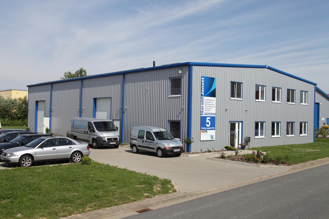 Aussenansicht der Räumlichkeiten des EDV Systemhauses der Janott GmbH in Lüneburg