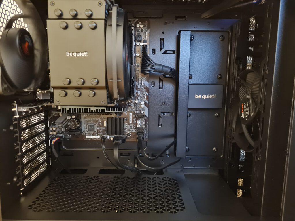 Beispielsystem - ein extrem leiser Arbeitsplatz- Computer mit Komponenten von BeQuiet!